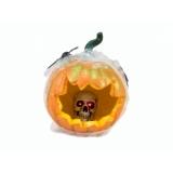 EUROPALMS Halloween Pumpkin in Spider Web, 25cm