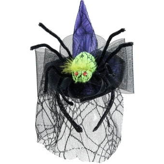 EUROPALMS Halloween Costume Witch Hat with Spider #1