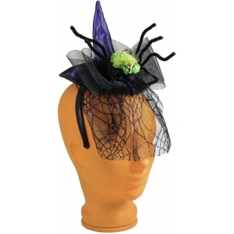 EUROPALMS Halloween Costume Witch Hat with Spider #2