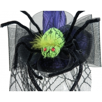EUROPALMS Halloween Costume Witch Hat with Spider #3