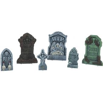 EUROPALMS Halloween Tombstone Set 6 piece