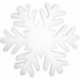 EUROPALMS Snowflake made of snow matting, 29cm, flame retardent