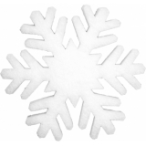 EUROPALMS Snowflake made of snow matting, 41cm, flame retardent