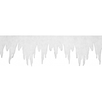 EUROPALMS Iceicle garland made of Snow matting, 500x35cm,  flame