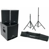OMNITRONIC Set MAXX-1200DSP 2.1 + Speaker Stand MOVE MK2
