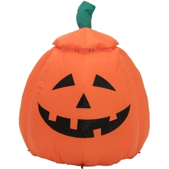 EUROPALMS Inflatable Figure Pumpkin with Ghost, animated, 120cm #3
