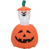 EUROPALMS Inflatable Figure Pumpkin with Ghost, animated, 120cm