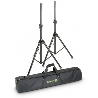 Gravity SS 5212 B SET 1 Speaker Stand Set of 2 Speaker Stands, Steel, with Bag