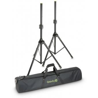 Gravity SS 5212 B SET 1 Speaker Stand Set of 2 Speaker Stands, Steel, with Bag