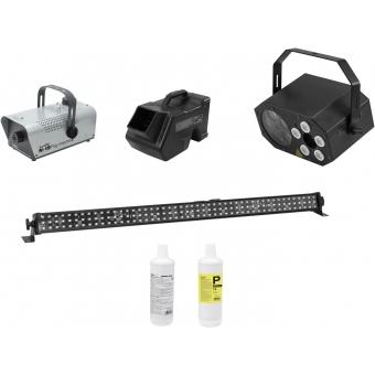 EUROLITE Set LED Mini FE-5 + LED PIX-144 + B-80 + N-19 + Fluid