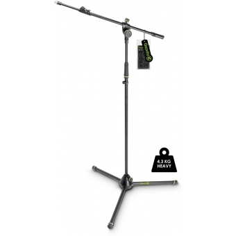 Gravity MS 4322 HDB Heavy Duty Microphone Stand, Tripod, 2-Point Telescopic Boom #1