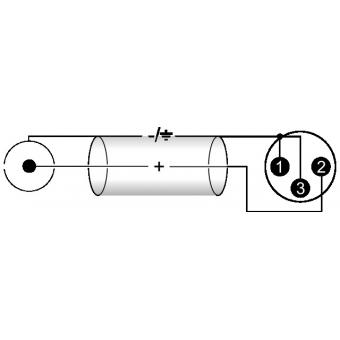 OMNITRONIC Adaptercable RCA/XLR(M) 2m bk #3