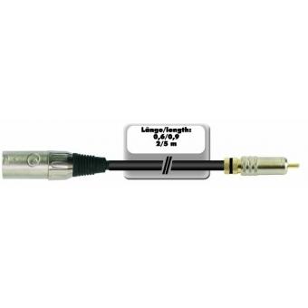 OMNITRONIC Adaptercable RCA/XLR(M) 2m bk #4