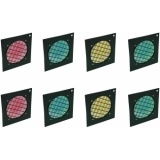 EUROLITE Set 8x Dichroic filter, black frame PAR-56, assorted
