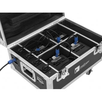 ROADINGER Flightcase 4x AKKU IP UP-4 QuickDMX with charging func #7