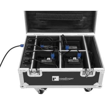 ROADINGER Flightcase 4x AKKU IP UP-4 QuickDMX with charging func #8