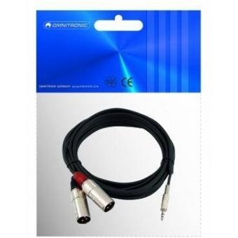 OMNITRONIC Adaptercable 3.5 Jack/2xXLR(M) 1.5m bk #2
