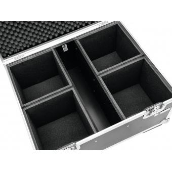 ROADINGER Flightcase 4x LED IP PAR 12x12W HCL with wheels #2