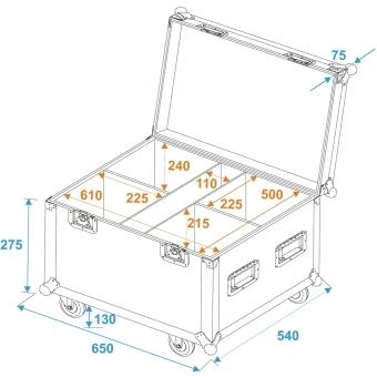ROADINGER Flightcase 4x LED IP PAR 12x12W HCL with wheels #3