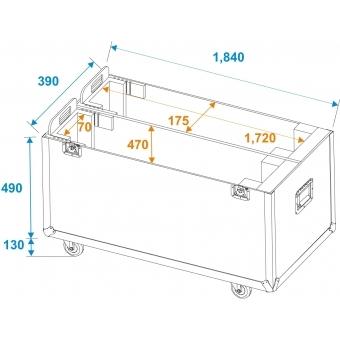 ROADINGER Flightcase 2x LCD ZL70 #7