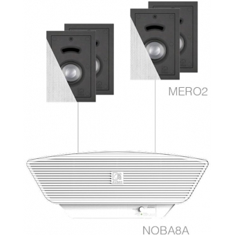 CERRA2.5/W - 4x MERO2 + NOBA8A - White