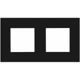 CF45D/B - Cover frame double 45 x 45 mm - Black version