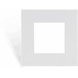 CF45S/W - Cover frame single 45 x 45 mm - White version