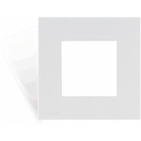 CF45SH/W - Cover frame single 45 x 45 mm with hooks  - White version