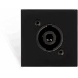 CP45SPES/B - Connection plate D-size speaker 45 X 45 mm - solderless - Black version