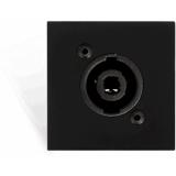CP45SPES/B - Connection plate D-size speaker 45 X 45 mm - solderless - Black version