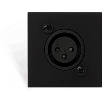 CP45XLFS/B - Connection plate XLR female 45 x 45 mm - solderless - Black