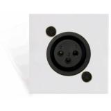 CP45XLFS/W - Connection plate XLR female 45 x 45 mm - solderless - White