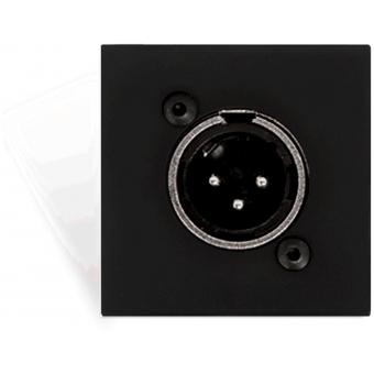 CP45XLMS/B - Connection plate XLR male 45 X 45 mm - solderless - Black