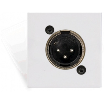 CP45XLMS/W - Connection plate XLR male 45 X 45 mm - solderless - White