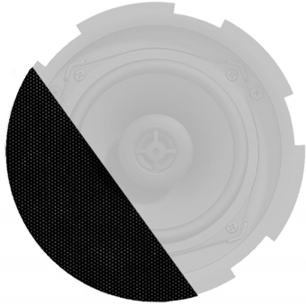 GLI05/OB - Front grill for CIRA5 series speakers with cloth & outdoor treatment - Black version