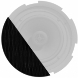 GLI08/OB - Front grill for CIRA8 series speakers with cloth & outdoor treatment - Black version