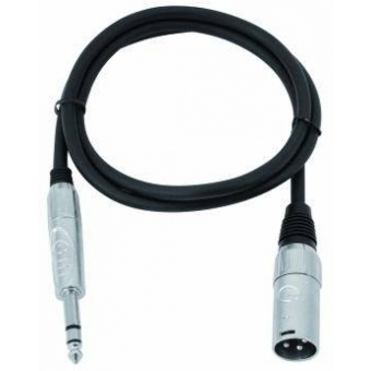 OMNITRONIC Adaptercable XLR(M)/Jack stereo 0.9m bk