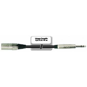 OMNITRONIC Adaptercable XLR(M)/Jack stereo 0.9m bk #4