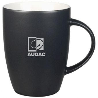 PROMO5502 - Coal-colored mug with grey AUDAC logo