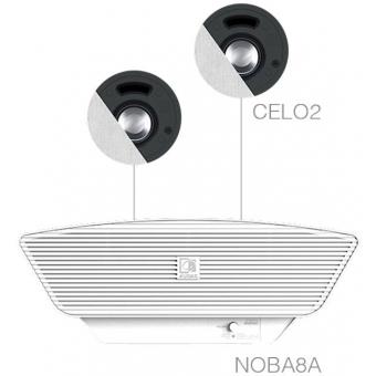 SENSO2.3/W - 2x CELO2 + NOBA8A - White
