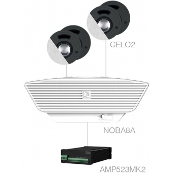 SENSO2.5+/W - 4x CELO2 + NOBA8A + AMP523MK2 - White