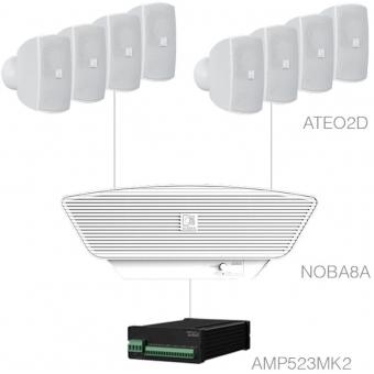 SONA2.9+/W - 8x ATEO2D + NOBA8A + AMP523MK2 - White