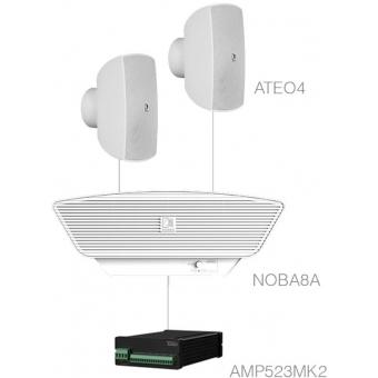SONA4.3+/W - 2 x ATEO4 + NOBA8A + AMP523MK2 - White