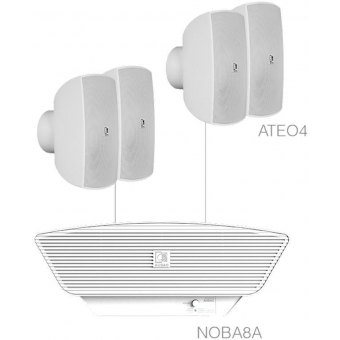 SONA4.5/W - 4x ATEO4  + NOBA8A - White
