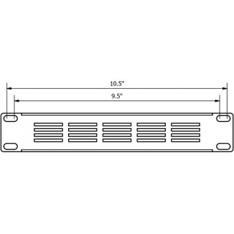 """BSVN01 - Ventilated blind cover for 9.5""""/10.5"""" cabinets - 1HE"""