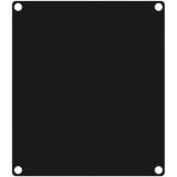 CASY201A/B - CASY 2 space closed aluminum blind plate - Black