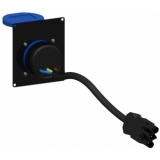 CASY285UK/B - CASY 2 space with UK outlet IP54 - Black
