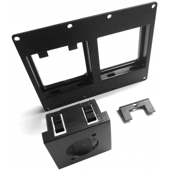CASY303/B - CASY 3 space double 45x45 mm module plate - Black