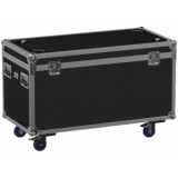 FCE126HD/B - Flight case euro 1200x600x620mm with hinge cover + divider profile - wheels included - Black