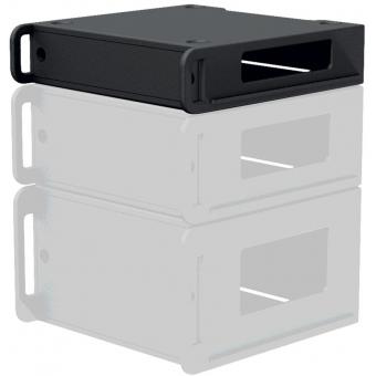 "FCI102/B - Flightcase 19"" rack insert 2 HE - Black version"